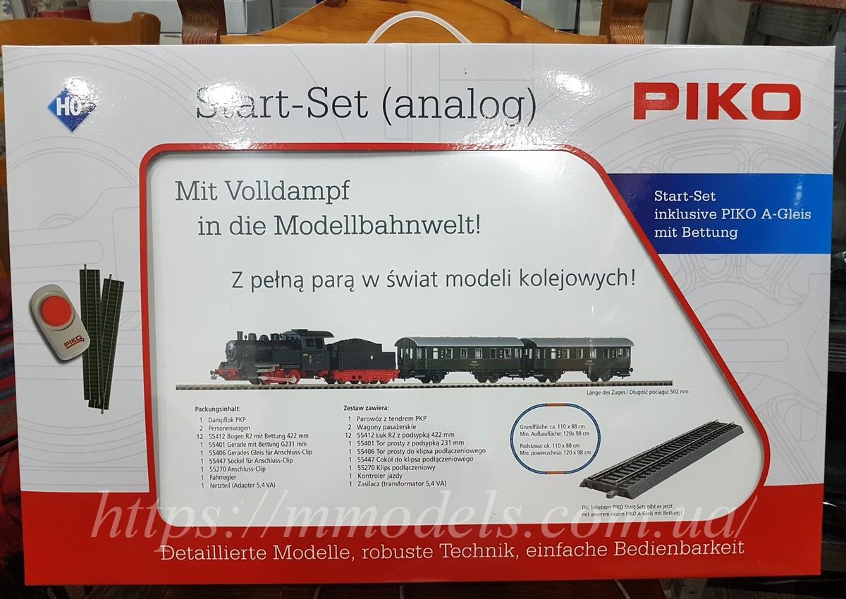 Детская Железная дорога PIKO 97933 Стартовый набор пассажирский поезд, принадлежности PKP, масштаба H0.1/87