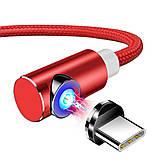 Магнітний кабель для зарядки Topk USB Type-C 1m 2.4 A 360° Червоний (TK51C-VER2-RD), фото 2