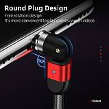 Магнітний кабель для зарядки і передачі даних Greenport 1m 3.0 A для USB Type-C Red (M32A09), фото 3