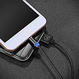 Магнітний кабель для зарядки Usams iPhone 1m 2.1 A 360° Чорний (2223), фото 2