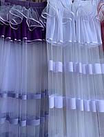 Тюль на кухню фиолетовый 2.80м / 1.70м от tyulnadom