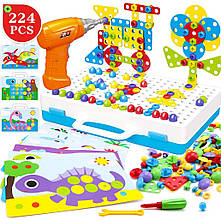 "Конструктор Tu Le Hui ""Puzzle Peg"" чемодан 224 детали   Детский набор мозаика   Конструктор для детей"