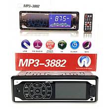 Автомагнитола MP3 3882 ISO 1DIN сенсорный дисплей / Автомобильная магнитола