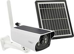 Уличная аккумуляторная камера Y4P-4G с Sim картой 2 Мп с солнечной панелью