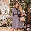 Сукня сорочкового стилю, розкльошені креп-костюмка 48-50,52-54,56-58, фото 4