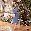 Сукня сорочкового стилю, розкльошені креп-костюмка 48-50,52-54,56-58, фото 2