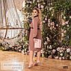 Сукня сорочкового стилю, розкльошені креп-костюмка 48-50,52-54,56-58, фото 8