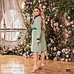 Сукня сорочкового стилю, розкльошені креп-костюмка 48-50,52-54,56-58, фото 6