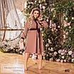 Сукня сорочкового стилю, розкльошені креп-костюмка 48-50,52-54,56-58, фото 7
