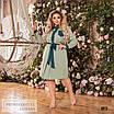 Платье рубашечного стиля расклешенное креп-костюмка 48-50,52-54,56-58, фото 5