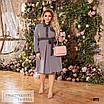Сукня сорочкового стилю, розкльошені креп-костюмка 48-50,52-54,56-58, фото 3