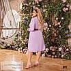 Сукня сорочкового стилю, розкльошені креп-костюмка 48-50,52-54,56-58, фото 9