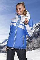 Горнолыжная куртка женская Freever GF 7254 голубая