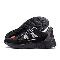 Мужские летние кроссовки сетка New Balance Black (реплика), фото 1