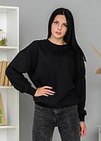 Женский свитшот толстовка кофта черная принт Турция