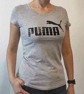 -Р - Футболка жіноча спортивна PUMA Сірий меланж (2015ж), XXL