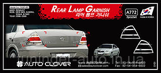 Хром накладки на стопы Nissan Almera Classic 2006-2012 (Autoclover A772)