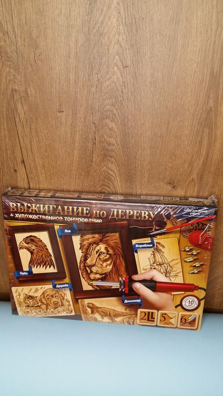 Набор для творчества Выжигание по дереву лев, орёл, кораблик, дружба, динозавр, Danko Toys