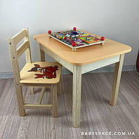 Детский столик и стульчик.Столик с ящиком
