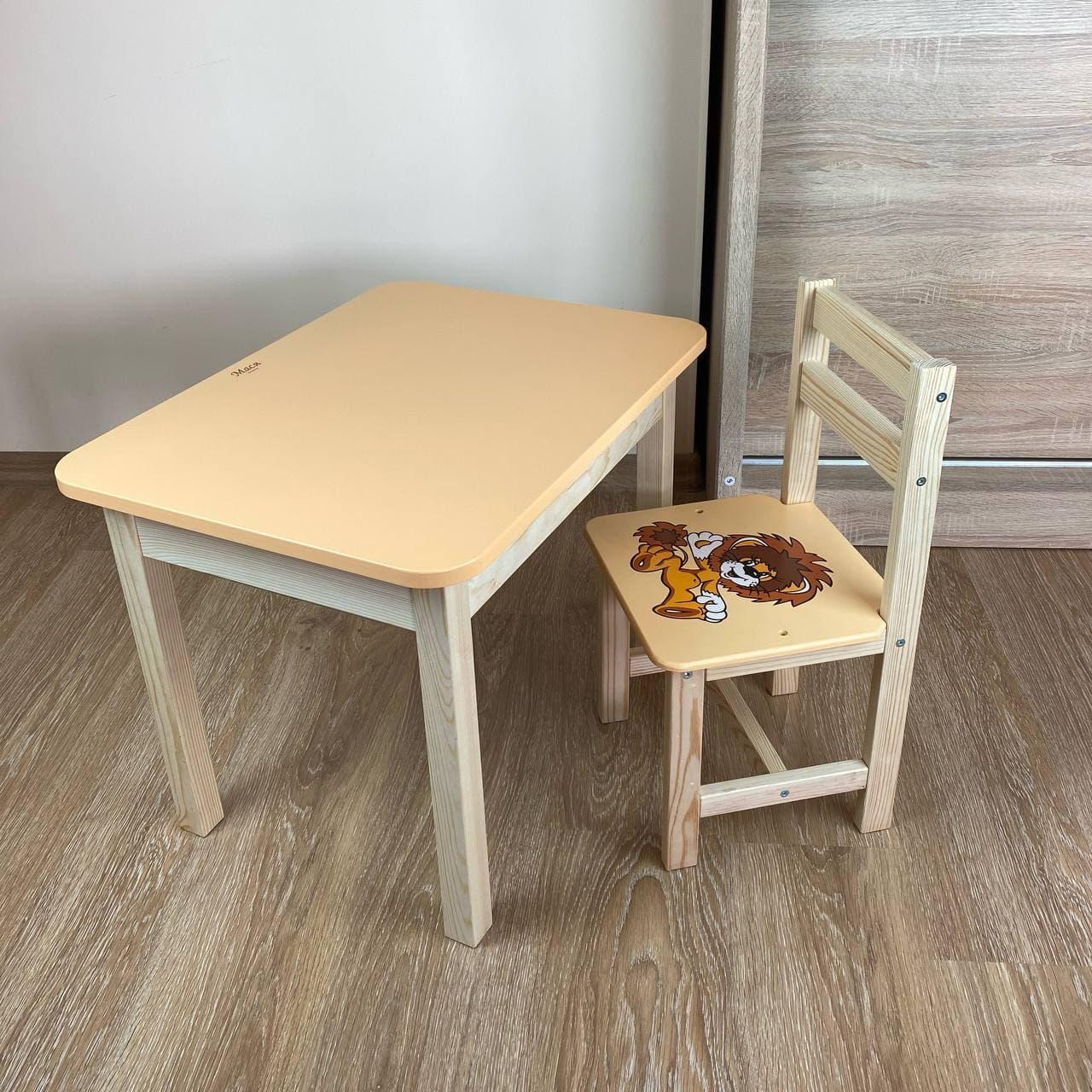 Детский стол и стул. Стол с ящиком и стульчик. Для учебы,рисования,игры