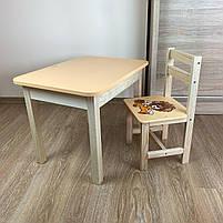 Детский стол и стул. Стол с ящиком и стульчик. Для учебы,рисования,игры, фото 3