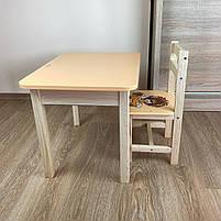 Детский стол и стул. Стол с ящиком и стульчик. Для учебы,рисования,игры, фото 4