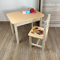 Детский стол и стул. Стол с ящиком и стульчик. Для учебы,рисования,игры, фото 5