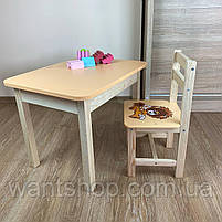 Детский стол и стул. Стол с ящиком и стульчик. Для учебы,рисования,игры, фото 6
