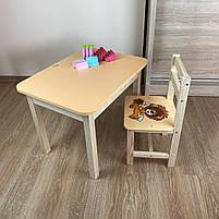Детский стол и стул. Стол с ящиком и стульчик. Для учебы,рисования,игры, фото 7