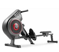 Гребной тренажер воздушный фитнес кардиотренажер для похудения до 135 кг с транспортными роликами Hop-Sport.