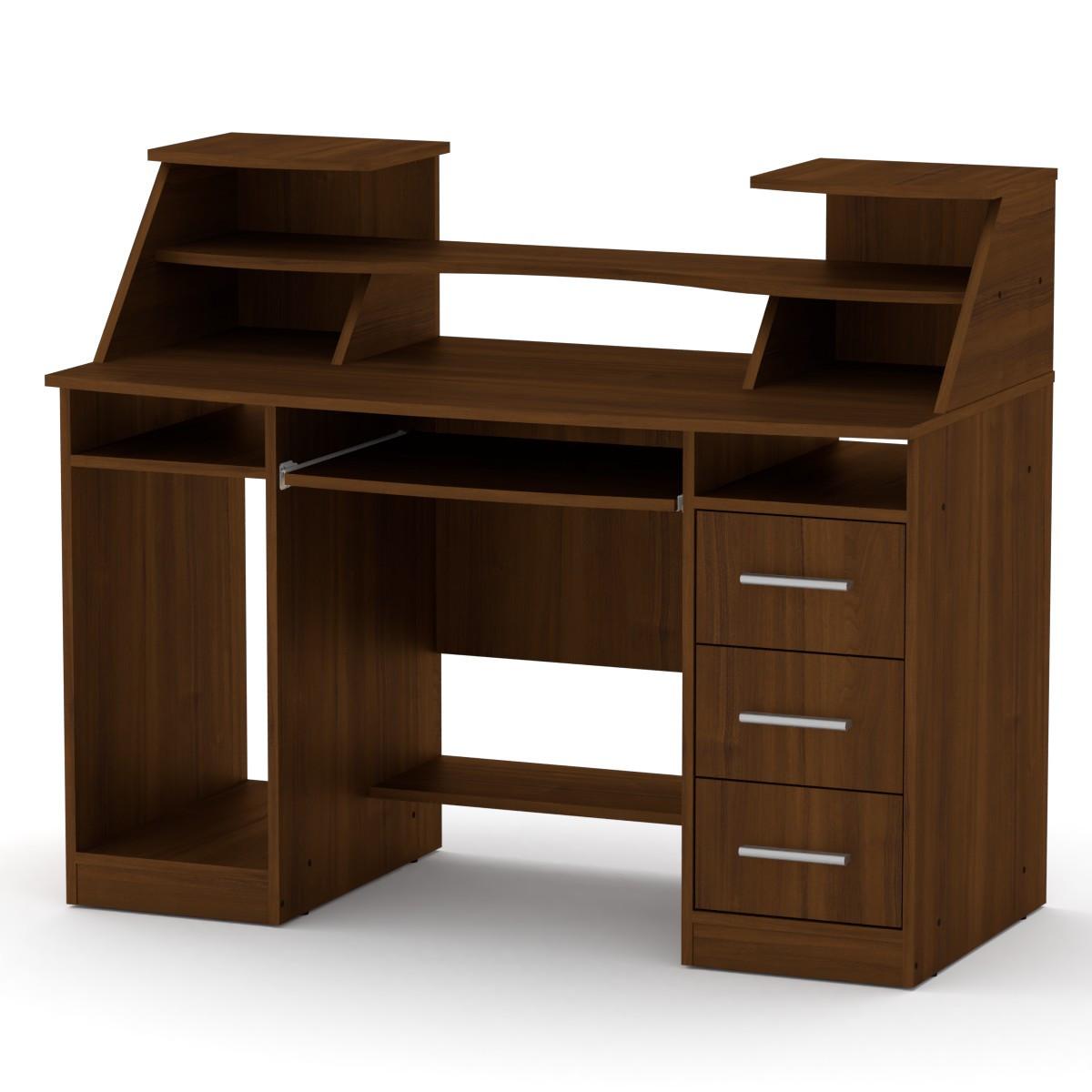 Стол компьютерный Комфорт-5 орех экко Компанит (127х65х104 см)