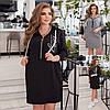 Р 44-58 Трикотажне плаття-туніка з капюшоном Батал 23696