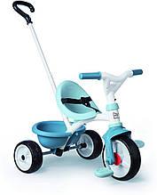 Детский велосипед с ручкой Smoby 2 в 1 Би Муви синий Be Move Bleu 740331