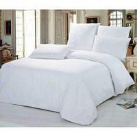 Комплект хлопкового однотонного белоснежного постельного белья Евро VILUTA