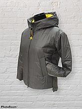 Стильна жіноча демісезонна коротка куртка SK-32, капучіно