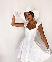 Женское  белое  платье из прошвы