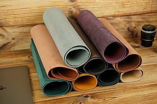 Шкіряний бювар, підкладка на стіл 375 х 600 мм, натуральна шкіра Grand, колір Коньяк, фото 3