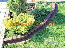 Палисад Газонный Графит (черный)  2,1 метра - декоративный садовый бордюр Palisada MIDI Plus (Польша), фото 2
