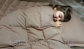 Полуторное евро утяжеленное одеяло. 150х210см, 8кг, с наполнителем из гречневой лузги (шелухи).