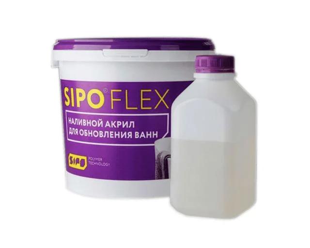 Жидкий акрил SipoFlex для реставрации ванн