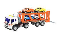 Детская машинка автовоз инерционная со звуком и светом 1:16 Wenyi 572A