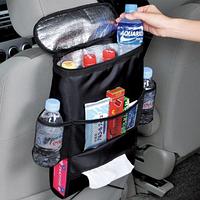 Автомобильный органайзер на спинку сидения с термосумкой