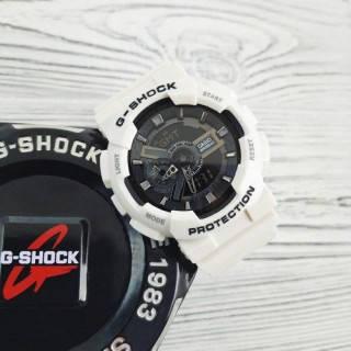 Наручные водостойкие кварцевые часы Casio G-Shock GA-110, мужские спортивные електронные часы белые