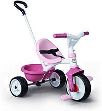 Детский велосипед с ручкой Smoby 2 в 1 Би Муви розовый Be Move 740332