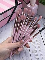 Кисти для макияжа 12 штук. Профессиональные кисти под макияж, набор кистей