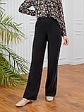 Светлые брюки-клеш из льна ЛЕТО, фото 8