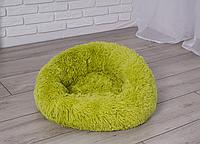 Подушка лежак для кошки и собаки 50 см зеленый лежанка