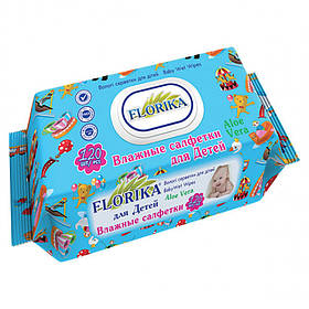 """Влажные салфетки для детей """"Florika"""" 120 штук с клапаном 350080"""
