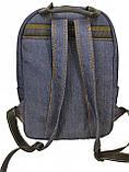 Джинсовый рюкзак Чорний КІТ, фото 2