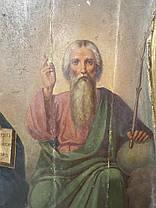Ікона Свята Трійця 19 століття Росія, фото 2